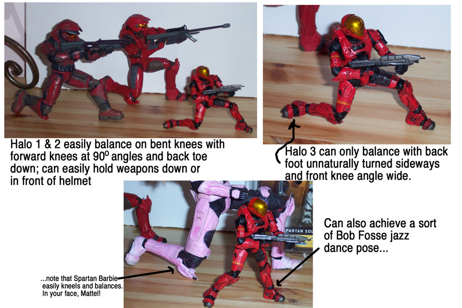 comparison of kneeling in joyride vs mcfarlane toys